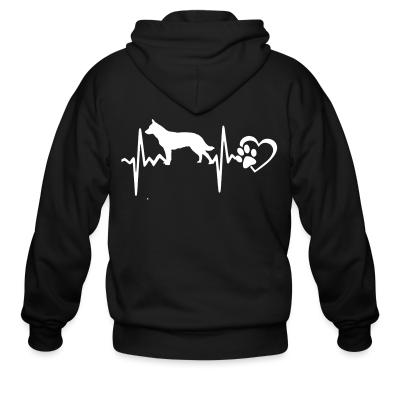 Zip hoodie Australian Cattle Dog heartbeat