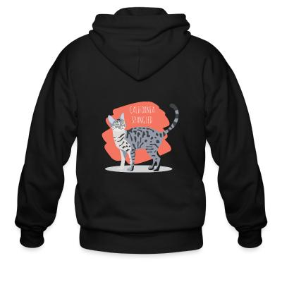 Zip hoodie California Spangled Cat