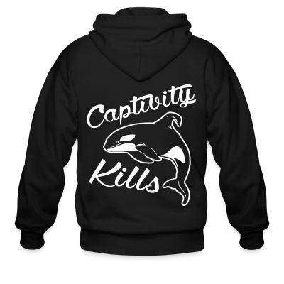 Zip hoodie Captivity kills