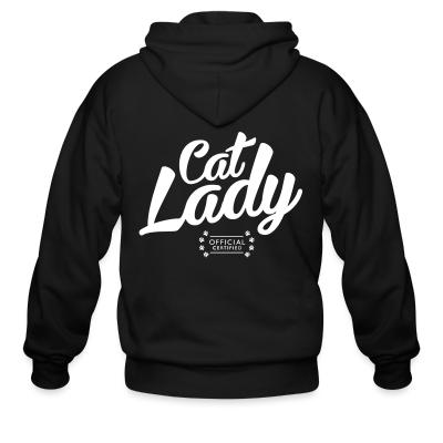 Zip hoodie Cat lady official certified