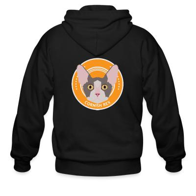 Zip hoodie Cornish Rex Cat