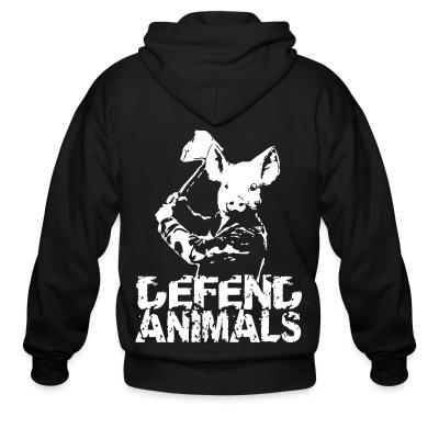 Zip hoodie Defend animals