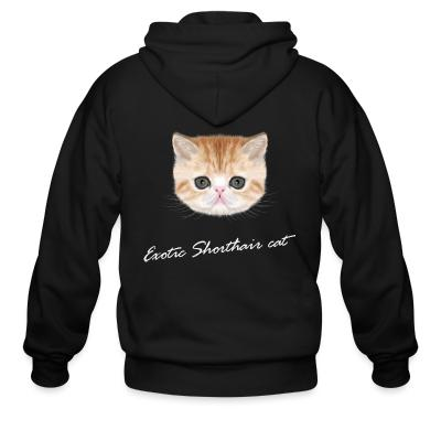 Zip hoodie Exotic Shorthair Cat