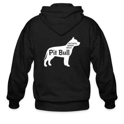Zip hoodie Faithful smart bold pitbull