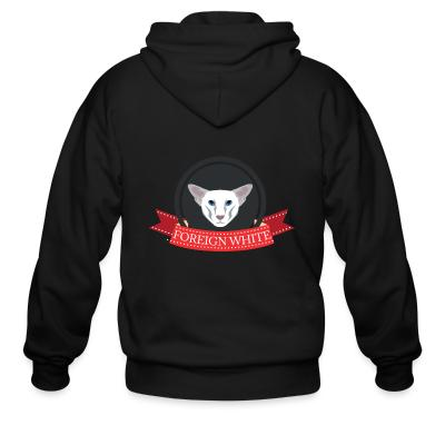 Zip hoodie Foreign white