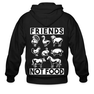 Zip hoodie Friends not food