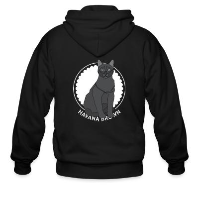 Zip hoodie Havana Brown Cat