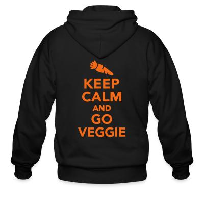 Zip hoodie keep calm and go veggie