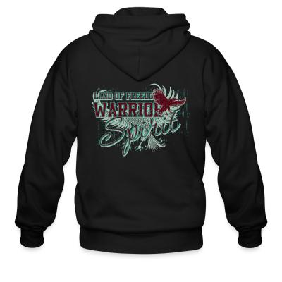 Zip hoodie Land of freedom Warrior spirit