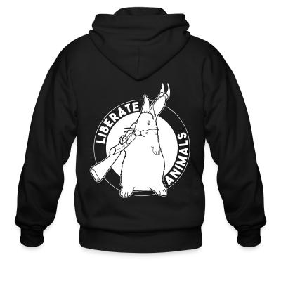 Zip hoodie Liberate animals