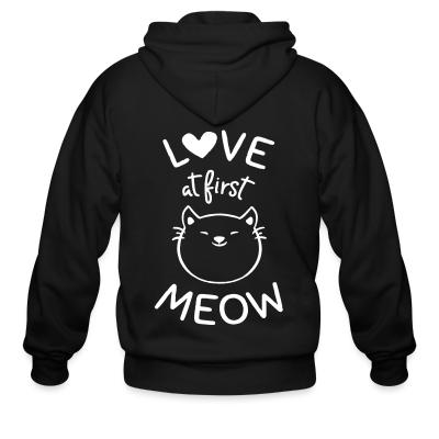 Zip hoodie Love at first meow