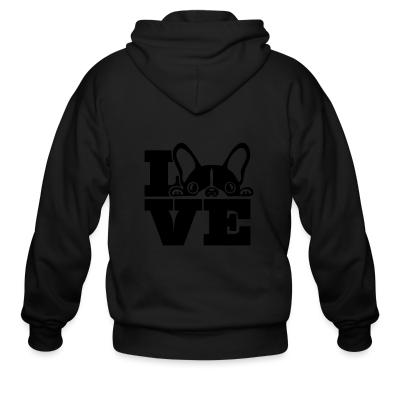 Zip hoodie Love Boston Terrier