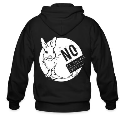 Zip hoodie No to animal testing