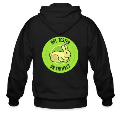 Zip hoodie Not tested on animals