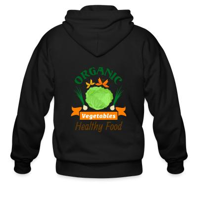 Zip hoodie oganic vegetables healty food