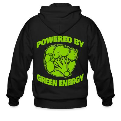 Zip hoodie Powered by green energy
