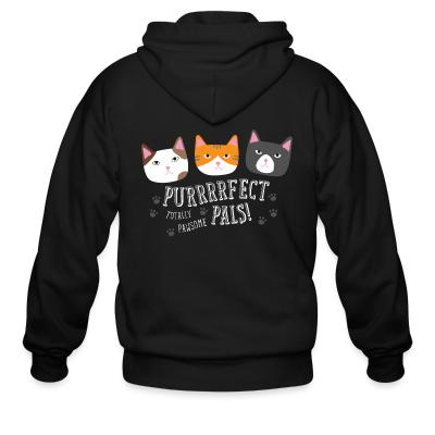 Zip hoodie Purrfect pals! totally pawsome