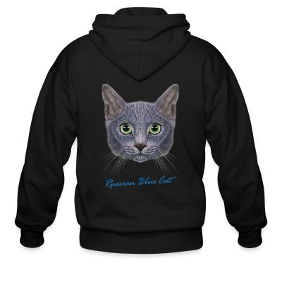 Zip hoodie Russian Blue Cat