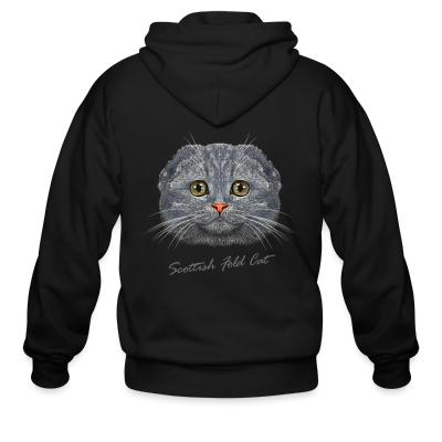 Zip hoodie Scottish Fold Cat