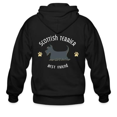 Zip hoodie Scottish terrier best friend