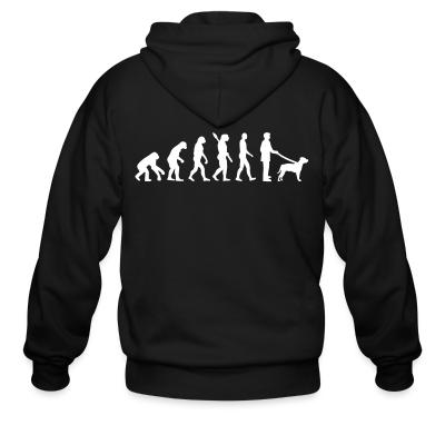 Zip hoodie Staffordshire Bull Terrier evolution