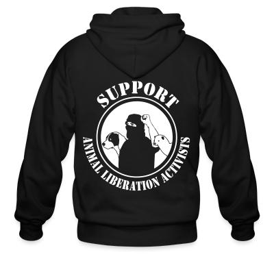 Zip hoodie Support animal liberation activists