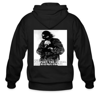 Zip hoodie Support the animal liberation front