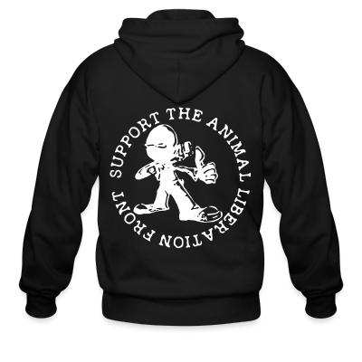 Zip hoodie Support the Animal Liberation Front (ALF)