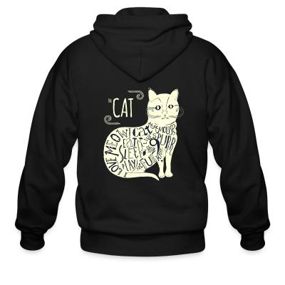 Zip hoodie The cat