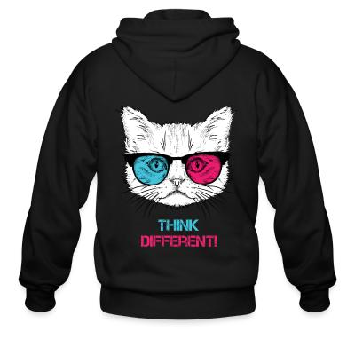 Zip hoodie Think differenti