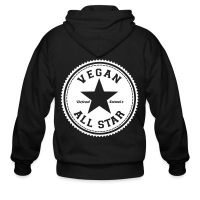 Zip hoodie Vegan all star. Defend animals