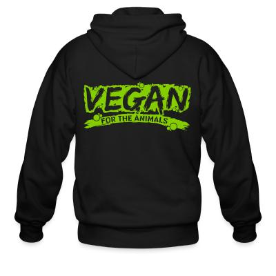 Zip hoodie Vegan for the animals