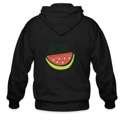 Zip hoodie Vegan healthy food