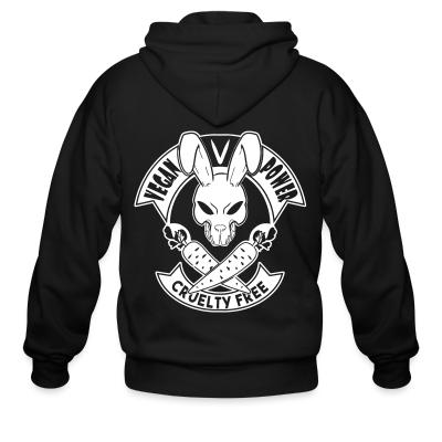 Zip hoodie Vegan power! Cruelty free