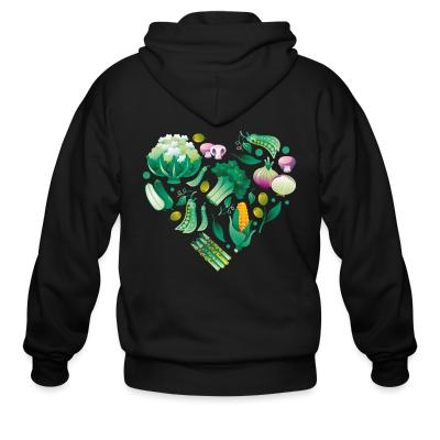 Zip hoodie Vegetable heart