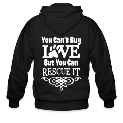 Zip hoodie you can't love but can rescue it