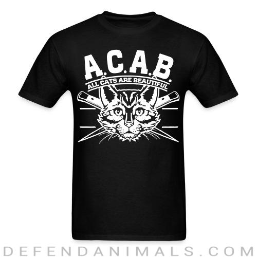 A.C.A.B. All Cats Are Beautiful  - Cats Lovers T-shirt
