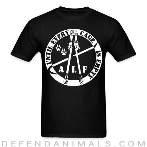 Standard t-shirt (unisex) Until every cage is empty  - Animal Rights Activism