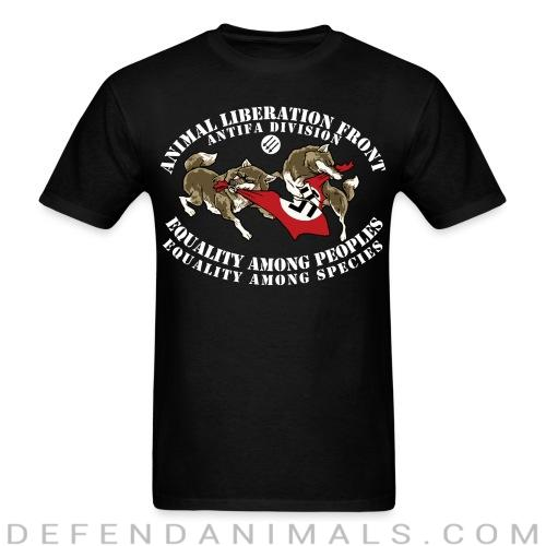 Animal Liberation Front antifa division - equality among peoples, equality among species - Animal Rights Activism T-shirt