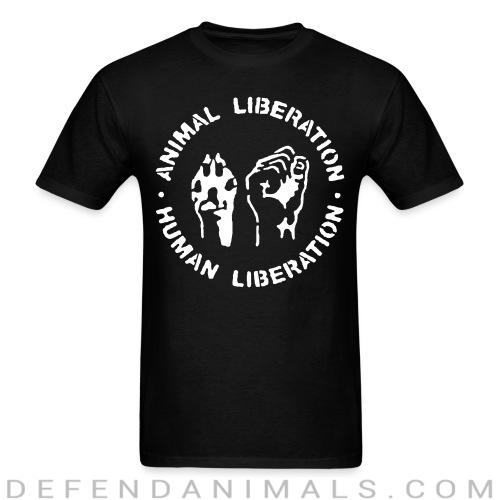 Standard t-shirt (unisex) Animal liberation Human liberation  - Animal rights activism