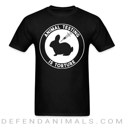Standard t-shirt (unisex) animal testing is torture  - Animal rights activism