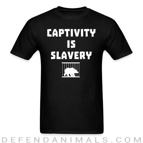 Captivity is slavery - Animal Rights Activism T-shirt