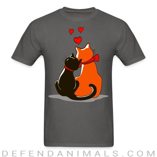 Cat in love  - Cats Lovers T-shirt