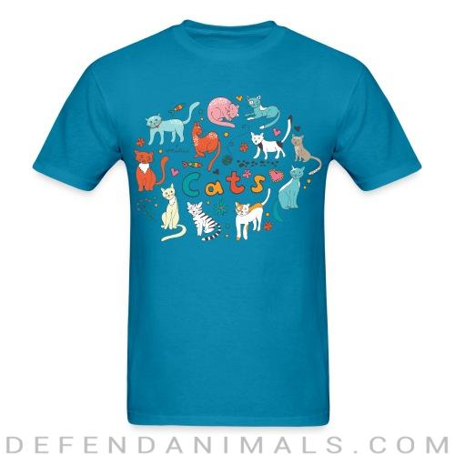 cats  - Cats Lovers T-shirt