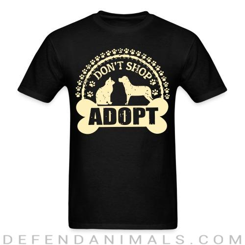 Standard t-shirt (unisex) Don\'t shop adopt - Animal rights activism