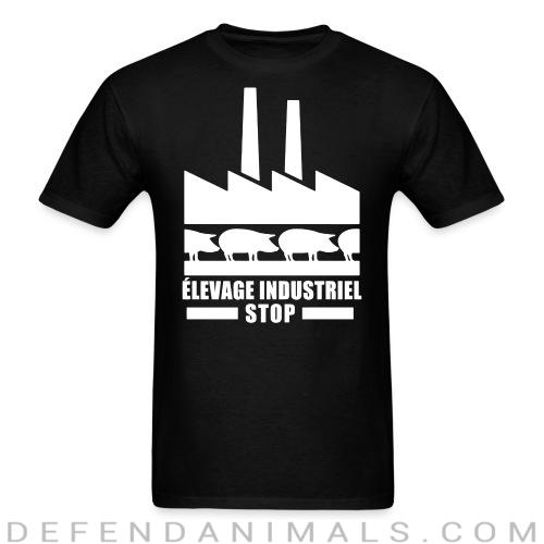 Élevage industriel: Stop - Vegan T-shirt