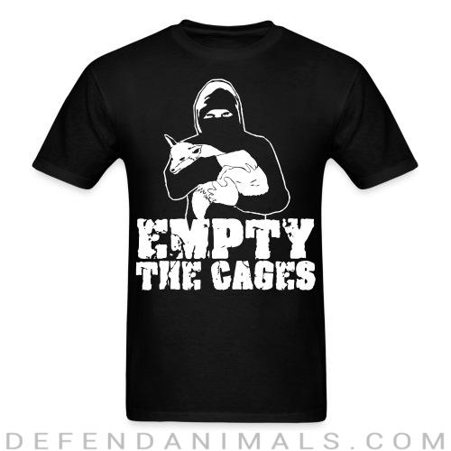 Standard t-shirt (unisex) Empty the cages - Animal Rights Activism