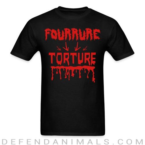 Standard t-shirt (unisex) Fourrure torture - Animal rights activism