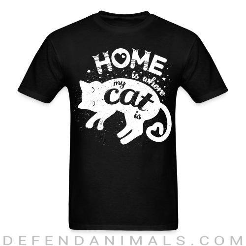 Standard t-shirt (unisex) Home is where my cat is  - Cats lovers