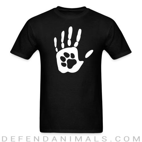 Human hand & animal paw - Animal Rights Activism T-shirt